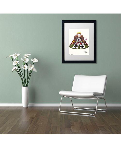 """Trademark Global Jenny Newland 'Queen Of Spades' Matted Framed Art, 16"""" x 20"""""""