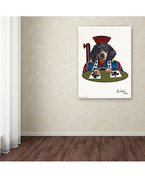 "Trademark Global Jenny Newland 'Jack Of Clubs' Canvas Art, 24"" x 32"""
