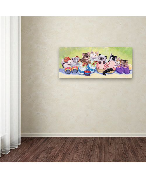 "Trademark Global Jenny Newland 'Little Rascals' Canvas Art, 8"" x 19"""