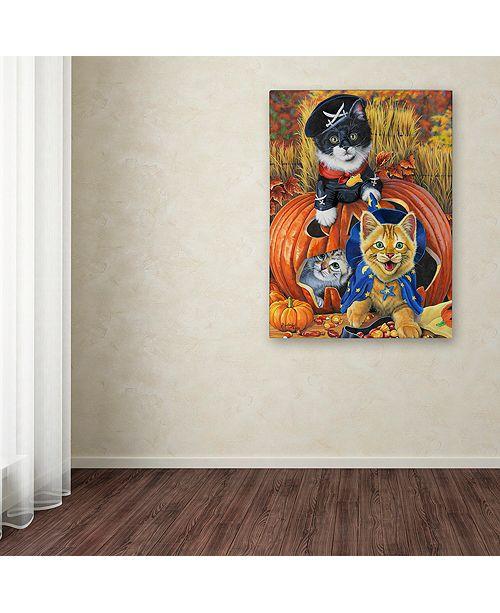 "Trademark Global Jenny Newland 'Halloween Kittens' Canvas Art, 35"" x 47"""