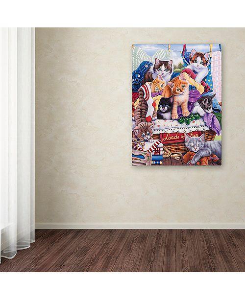 "Trademark Global Jenny Newland 'Loads of Fun' Canvas Art, 14"" x 19"""