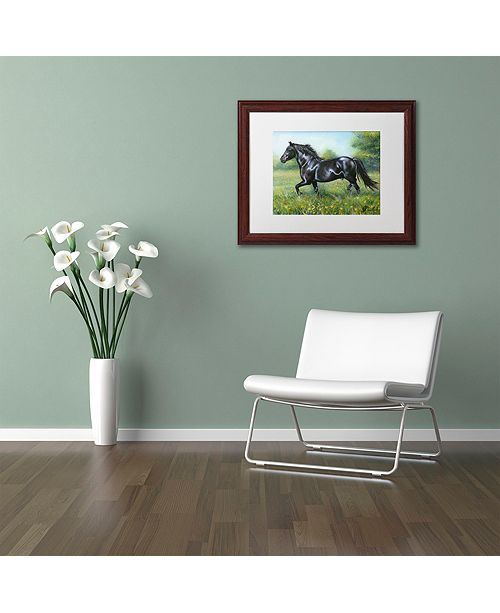 "Trademark Global Jenny Newland 'Free Spirit' Matted Framed Art, 11"" x 14"""