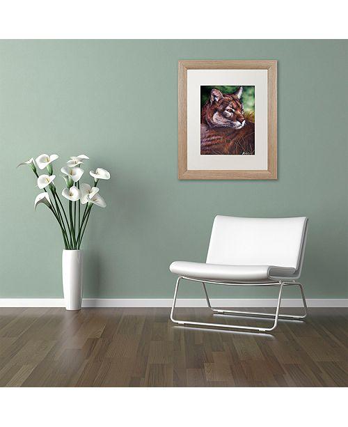 "Trademark Global Jenny Newland 'Watchful Eyes II' Matted Framed Art, 16"" x 20"""