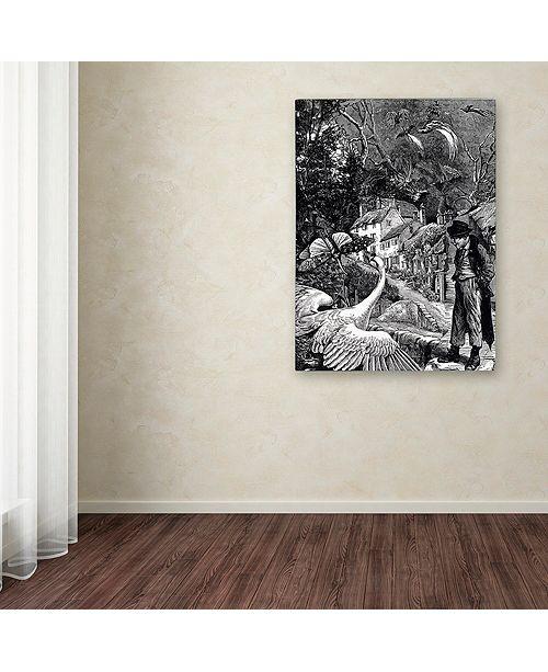 "Trademark Global Nick Bantock 'Dodgers Dream' Canvas Art, 14"" x 19"""