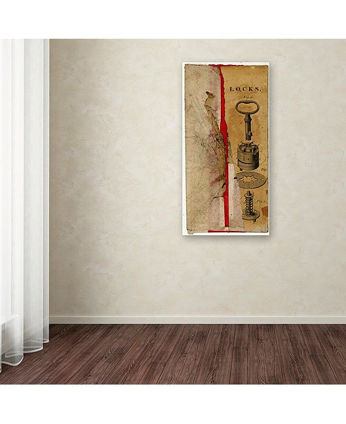 "Trademark Global Nick Bantock 'Locks Env' Canvas Art, 16"" x 32"""