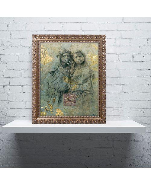 "Trademark Global Nick Bantock 'Mauresque Sisters' Ornate Framed Art, 11"" x 14"""