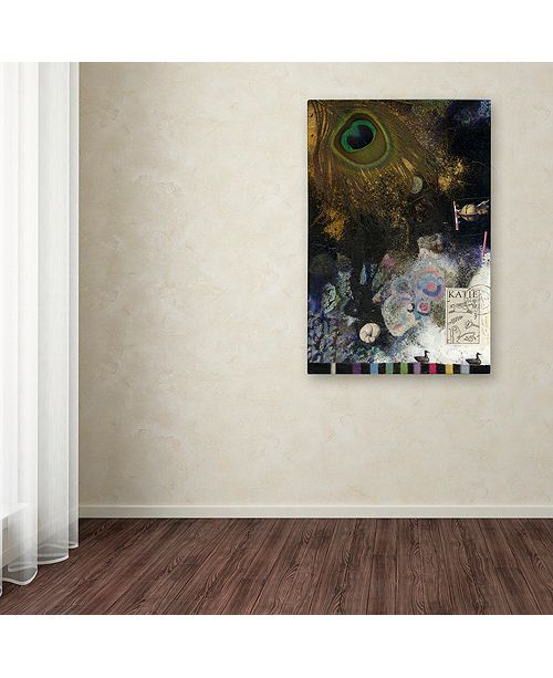 "Trademark Global Nick Bantock 'Peacock Feather' Canvas Art, 30"" x 47"""