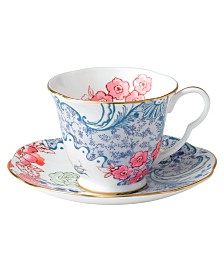 Wedgwood Dinnerware, Spring Blossom Cup and Saucer