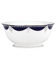 Marchesa by Lenox Dinnerware, Empire Indigo Serving Bowl
