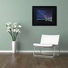 Michael Blanchette Photography 'Pier in the Stars' Matted Framed Art
