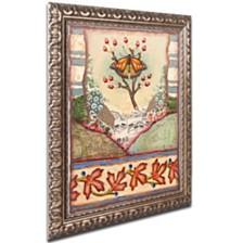 "Rachel Paxton 'Mink Meadows Butterfly' Ornate Framed Art, 11"" x 14"""