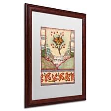"""Rachel Paxton 'Mink Meadows Butterfly' Matted Framed Art, 16"""" x 20"""""""
