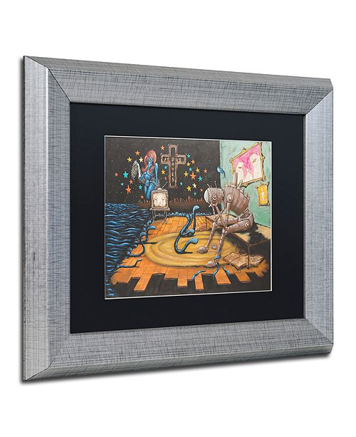 "Trademark Global Craig Snodgrass 'Jesus Saves' Matted Framed Art, 11"" x 14"""