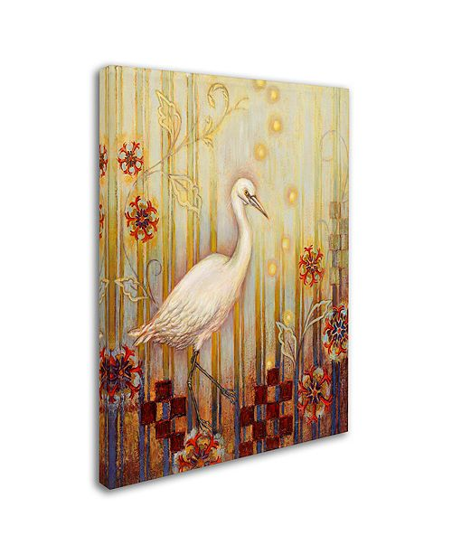 "Trademark Global Rachel Paxton 'Ocean Heron' Canvas Art, 35"" x 47"""