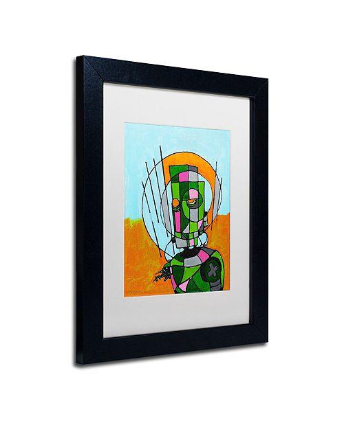 """Trademark Global Craig Snodgrass 'Segmented Man II' Matted Framed Art, 11"""" x 14"""""""