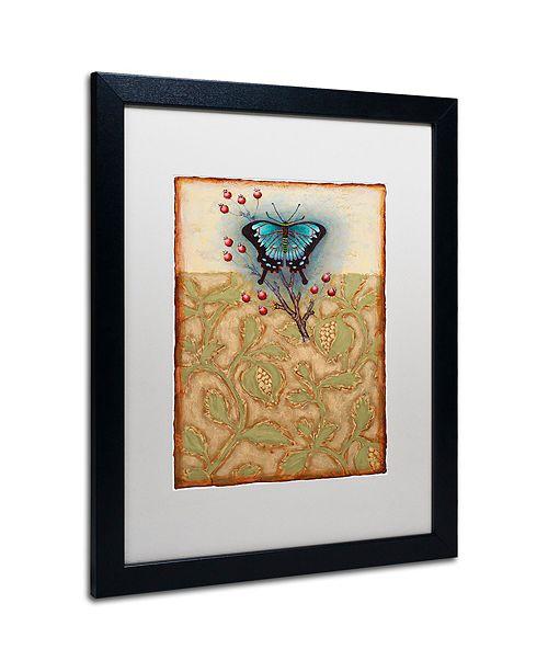 """Trademark Global Rachel Paxton 'Salt Meadow Butterfly' Matted Framed Art, 16"""" x 20"""""""