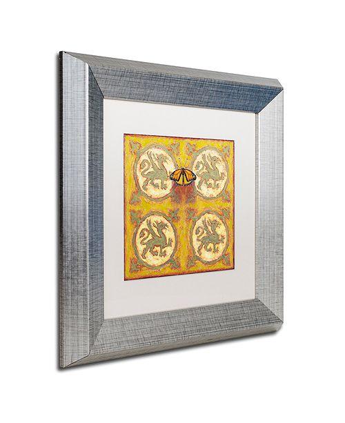 """Trademark Global Rachel Paxton 'Estate Monarch' Matted Framed Art, 11"""" x 11"""""""