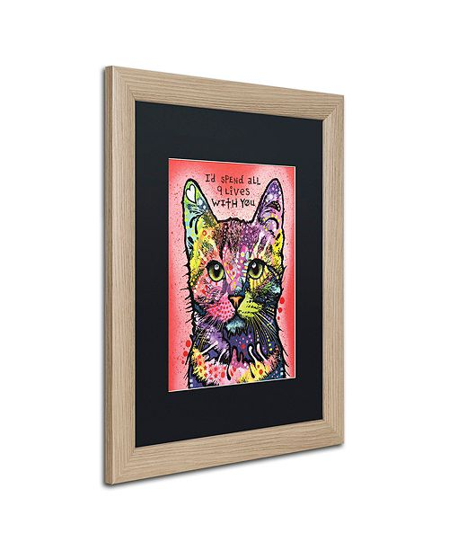 "Trademark Global Dean Russo '9 Lives' Matted Framed Art, 16"" x 20"""