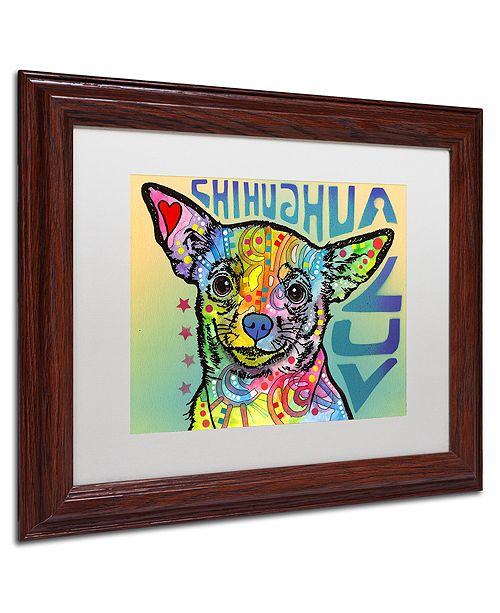 "Trademark Global Dean Russo 'Chihuahua Luv' Matted Framed Art, 11"" x 14"""