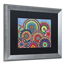Hello Angel 'Mandala Parade' Matted Framed Art