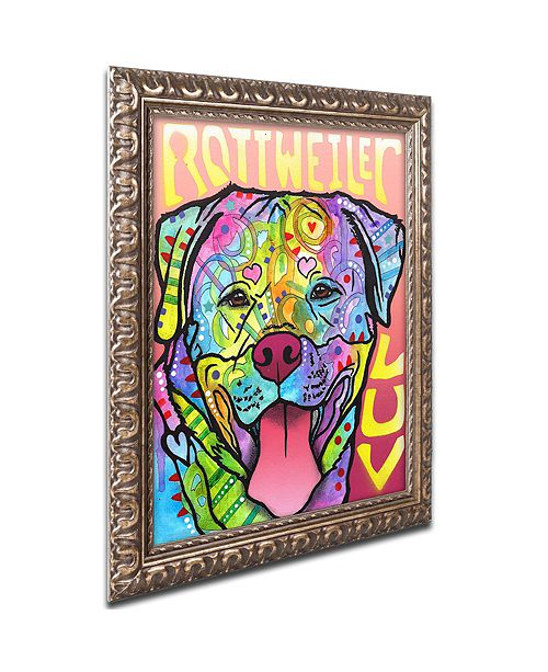 "Trademark Global Dean Russo 'Rottweiler Luv' Ornate Framed Art, 11"" x 14"""