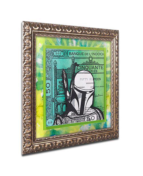 """Trademark Global Dean Russo 'Boba Fett' Ornate Framed Art, 11"""" x 11"""""""
