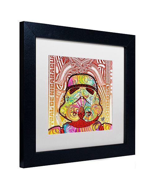 """Trademark Global Dean Russo 'Stormtrooper' Matted Framed Art, 11"""" x 11"""""""