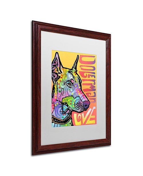 "Trademark Global Dean Russo 'Doberman Luv' Matted Framed Art, 16"" x 20"""