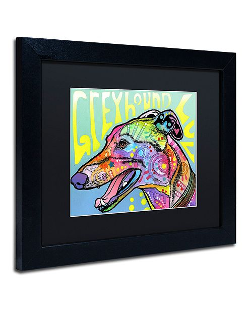 "Trademark Global Dean Russo 'Greyhound Luv' Matted Framed Art, 11"" x 14"""