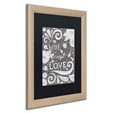 "Hello Angel 'Live Laugh Love Black' Matted Framed Art, 16"" x 20"""