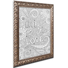 Hello Angel 'Live Laugh Love' Ornate Framed Art