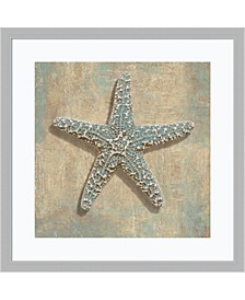 Aqua Starfish Framed Art Print