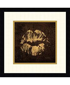 Amanti Art Shoe Fetish Quotes VIII Dark- Lips Framed Art Print