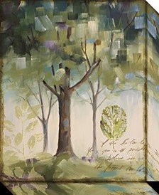 Amanti Art Hopes And Greens III- Tree Canvas Art Gallery Wrap