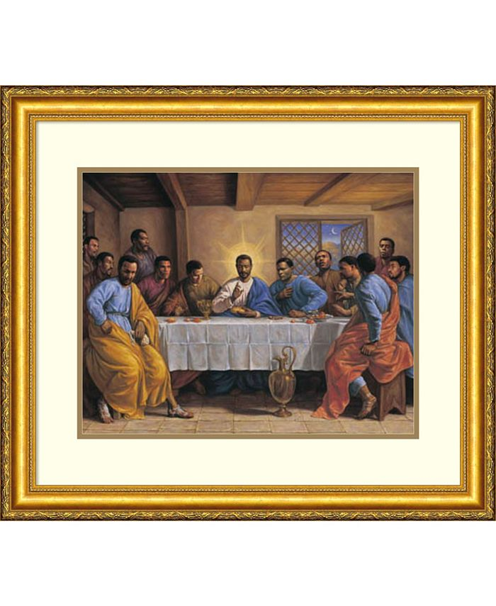 Amanti Art - Last Supper 30x25 Framed Art Print
