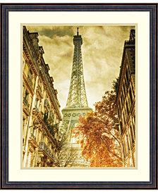 Amanti Art Vintage Eiffel Tower Framed Art Print