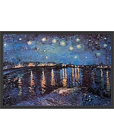 Amanti Art Starlight Over The Rhone By Vincent Van Gogh- Framed Art Print