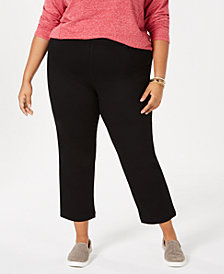 Style & Co Plus Size Pull-On Cropped Pants, Created for Macy's