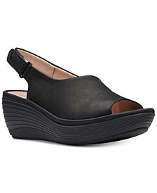 Clarks Collection Women's Reedly Shania Wedge Sandals