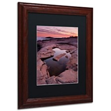 """Michael Blanchette Photography 'Tide Pool Geometry' Matted Framed Art, 11"""" x 14"""""""