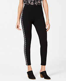 Style & Co Petite Embroidered Pull-On Pants, Created for Macy's