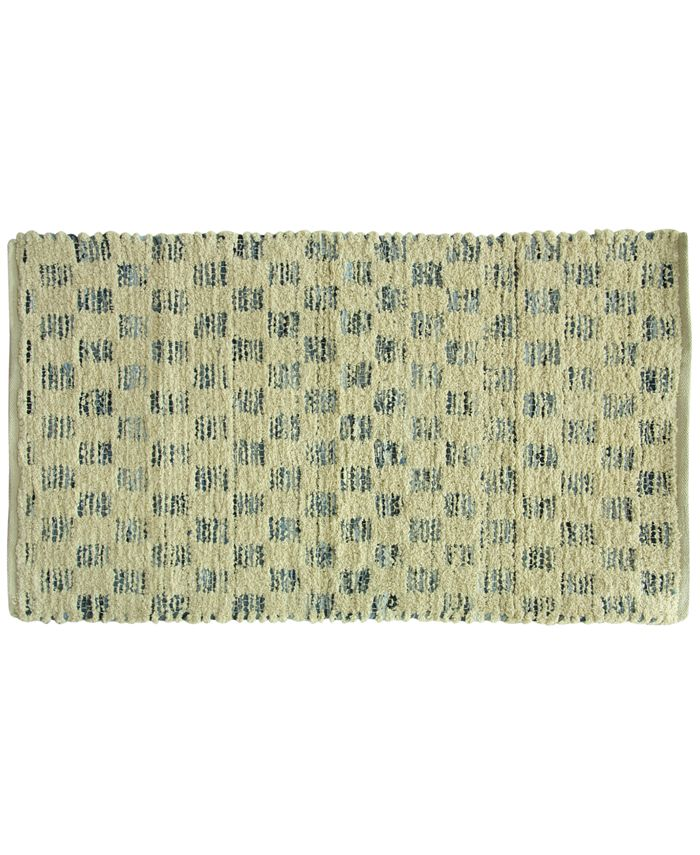 "Riviera Home - Marion Cotton Denim Tiles 27"" x 45"" Rug"