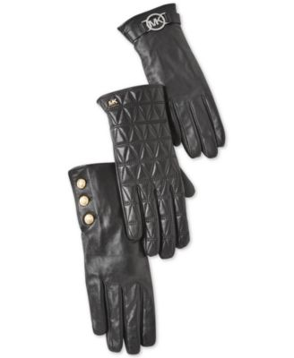 Leather Two-Button Gloves