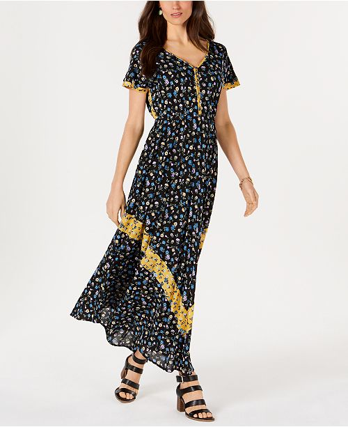 bf6218382e30 ... Style & Co Petite Floral-Print Maxi Dress, Created for Macy's ...