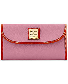 Dooney & Bourke Pebble Leather Continental Clutch