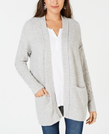 Style & Co Marled Open-Front Cardigan, Created for Macy's