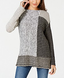 Blocked Boat-Neck Sweater, Created for Macy's