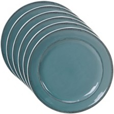 Certified International Orbit Solid Color - Teal 6-Pc. Dinner Plate