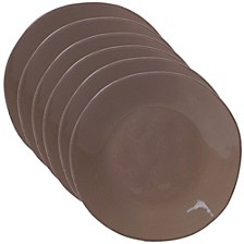 Harmony Solid Color - Taupe 6-Pc. Salad Plate