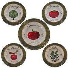 Certified International Pomodoro 5-Pc. Pasta Sets